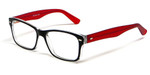 Soho 1014 in Black-Red Designer Reading Glass Frames :: Rx Single Vision