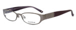 bebe Womens Designer Eyeglasses 5019 in Smoky