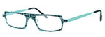 Harry Lary's French Optical Eyewear Starsky in Teal Black (717) :: Progressive
