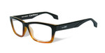 Wiley-X Contour Optical Eyeglass Collection in Gloss-Black-Brown-Stripe (WSCON05) :: Custom Left & Right Lens