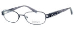 Badgley Mischka Marielle Designer Eyeglasses in Black :: Rx Bi-Focal