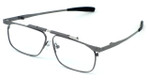 Calabria FAST-FOLD Metal Folding Eyeglasses w/ Case in Pewter :: Rx Bi-Focal