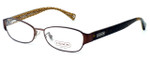 Coach Womens Designer Eyeglasses 'Rose' HC5018 in Satin Brown (9076) :: Progressive