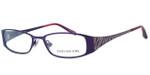 Jones New York Womens Designer Eyeglasses J461 in Plum :: Custom Left & Right Lens