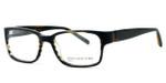 Jones New York Womens Designer Eyeglasses J514 in Olive Stripe :: Rx Single Vision