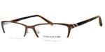 Jones New York Womens Designer Eyeglasses J469 in Brown :: Rx Single Vision