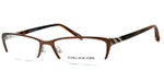 Jones New York Womens Designer Eyeglasses J469 in Brown :: Progressive