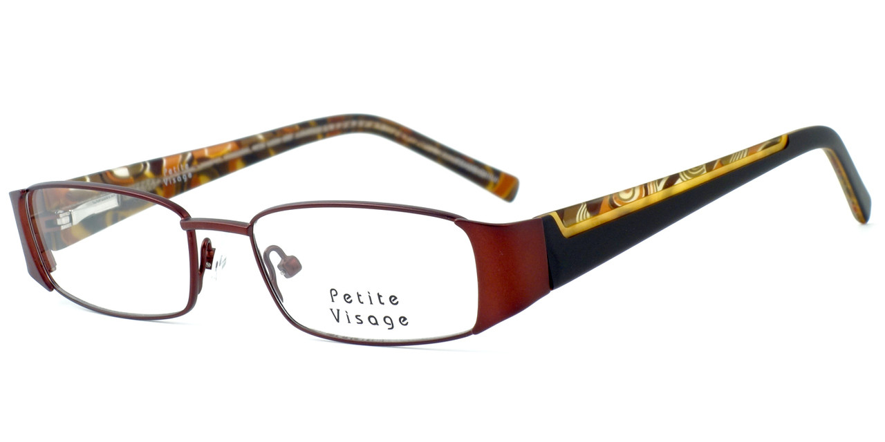 98cf117e84c Visage Petite Designer Eyeglasses 100 in Brown    Rx Single Vision. Loading  zoom