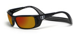 Hoven Eyewear Meal Ticket in Black & Fire Chrome Mirror Polarized