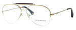 Emporio Armani Designer Eyeglasses EA1020-3002 in Gold :: Custom Left & Right Lens