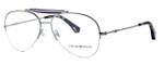 Emporio Armani Designer Reading Glasses EA1020-3010 in Silver & Purple
