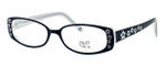 Hilary Duff HD122373-069 Designer Eyeglasses in Black & White :: Rx Single Vision