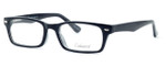 Enhance Optical Designer Eyeglasses 3928 in Black-Crystal :: Custom Left & Right Lens