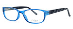 Enhance Optical Designer Eyeglasses 3959 in Cobalt-Black :: Progressive
