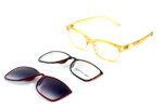 Switch and Go Switchable Eyewear 017-C3 in Crystal Champagne