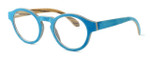 "Specs of Wood Designer Wooden Eyewear Made in the USA ""Wood Levis"" in Zebra Wood (Layered Denim) :: Rx Bi-Focal"