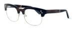 "Specs of Wood Designer Wooden Eyewear Made in the USA ""The Malcom"" in Ebony Wood (Black Silver)"