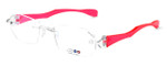 "I Wear America Designer Rimless Eyewear Made in the USA ""Freedom 1"" in Pink Diamond :: Custom Left & Right Lens"