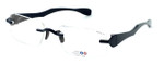 """I Wear America Designer Rimless Eyewear Made in the USA """"Freedom 1"""" in All Black :: Rx Single Vision"""