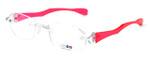 "I Wear America Designer Rimless Eyewear Made in the USA ""Freedom 1"" in Pink Diamond :: Progressive"