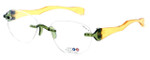 "I Wear America Designer Rimless Eyewear Made in the USA ""Freedom 1"" in Olive Oil :: Rx Bi-Focal"