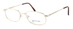Calabria MetalFlex Designer Eyeglasses II in Gold :: Custom Left & Right Lens