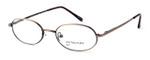 Calabria MetalFlex Designer Eyeglasses P in Antique Brown :: Custom Left & Right Lens