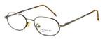 Calabria MetalFlex Designer Eyeglasses P in Gold & Amber :: Custom Left & Right Lens