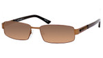 Dale Earnhardt, Jr. 6702 Designer Reading Sunglasses in Satin Brown