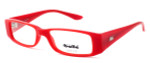 Bollé Louvres Designer Eyeglasses in Deep Red Crystal :: Custom Left & Right Lens