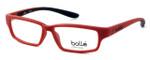 Bollé Volnay Designer Eyeglasses in Matte Red & Black :: Rx Bi-Focal