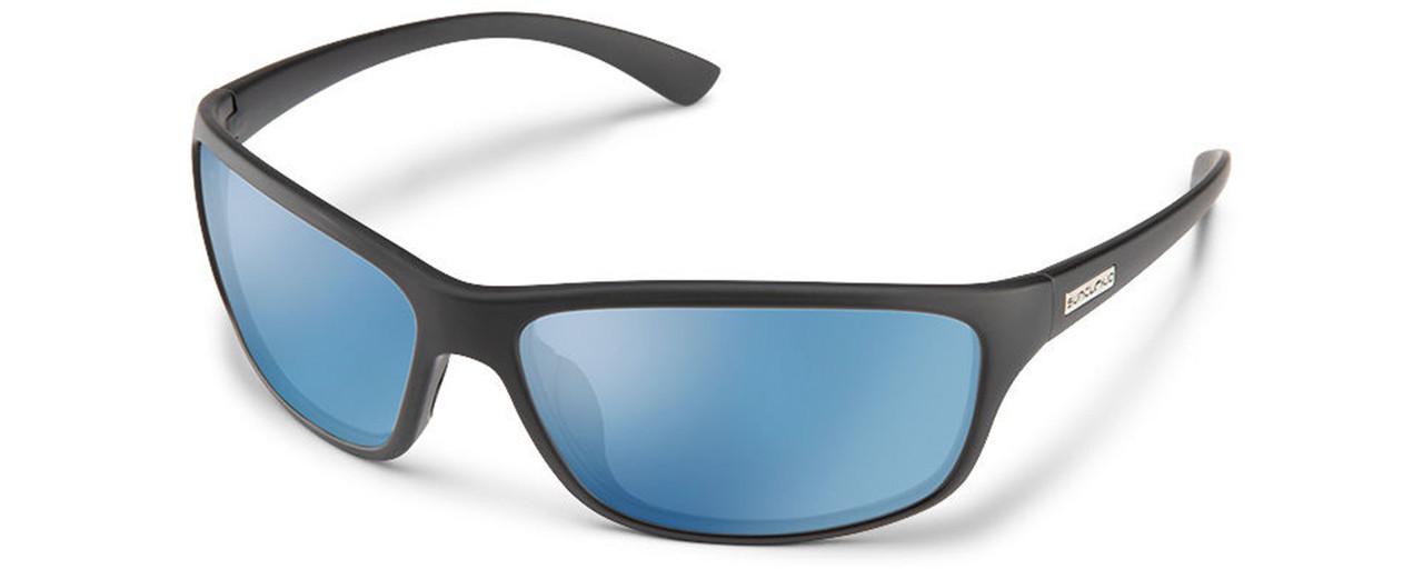 Suncloud Roadmap Polarized Sunglasses Black//Blue Mirror,Brown,Gray,Red//Silver