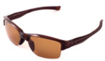 Oakley Polarized Sunglasses Half Link Polished Rootbeer&Bronze Lenses OO9251-05
