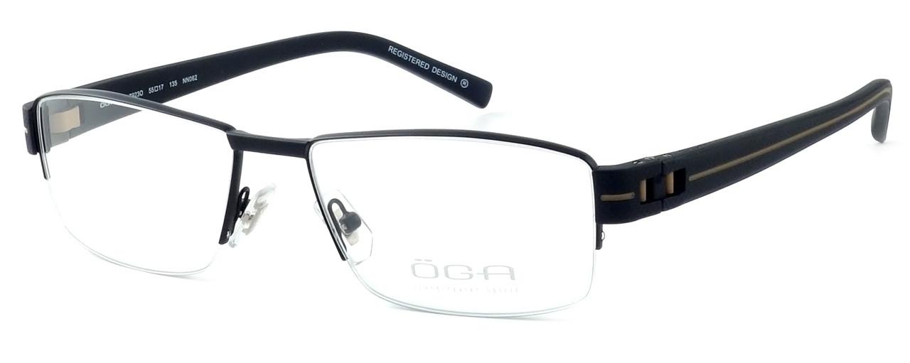 9cbf6e1a2e OGA Designer Eyeglasses 7923O-NN062 in Black   Brown    Custom Left ...