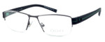 OGA Designer Eyeglasses 7922O-GN052 in Gunmetal & Green :: Progressive