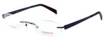 Totally Rimless Designer Eyeglasses TR163-CBT in Gunmetal :: Rx Single Vision