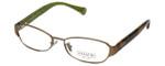 Coach Womens Designer Eyeglasses 'Rose' HC5018 in Sand (9002) 53mm :: Rx Single Vision
