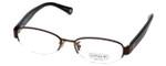 Coach Womens Designer Eyeglasses 'Betsy' HC5030 in Satin Brown (9076) 52mm :: Progressive