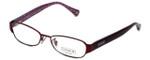 Coach Womens Designer Eyeglasses 'Rose' HC5018 in Satin Purple (9070) 53mm :: Progressive