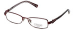 Coach Womens Designer Eyeglasses 'Sande' HC5005 in Burgundy (9037) 51mm :: Progressive