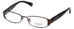 Coach Womens Designer Eyeglasses 'Trista' HC5019 in Satin-Brown (9076) 52mm :: Progressive
