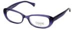 Coach Womens Designer Eyeglasses 'Cory' HC6035 in Transparent-Purple (5097) 52mm :: Progressive