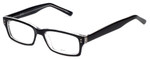 Calabria Soho 102 Black Crystal Designer Eyeglasses :: Rx Single Vision