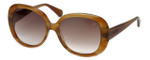 Kenneth Cole Designer Sunglasses KC7160-50F in Light-Brown Frame with Brown Gradient Lens