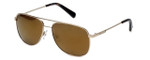 Kenneth Cole Designer Sunglasses KC7153-32G in Gold Frame with Brown Lens