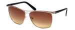 Guess 'G-By-Guess'  Designer Sunglasses Series GGU1117 in Gold Frame with Amber Gradient Lens