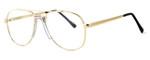 Fashion Optical Designer Eyeglasses Michael in Gold 48mm :: Custom Left & Right Lens