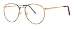 Fashion Optical Designer Eyeglasses E788 in Gold Amber 51mm :: Custom Left & Right Lens