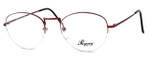 Regency International Designer Eyeglasses Lady in Lite Burgundy 54mm :: Custom Left & Right Lens