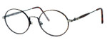 Regency International Designer Eyeglasses Prep in Dark Amber & Antique Silver 49mm :: Custom Left & Right Lens